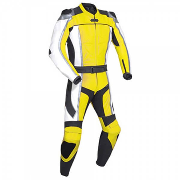 Yellow Motorcycle Racing Leather Suit