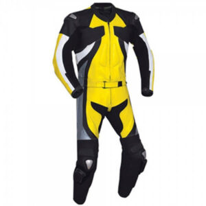 Yellow&Black Motorcycle Racing Leather Suit