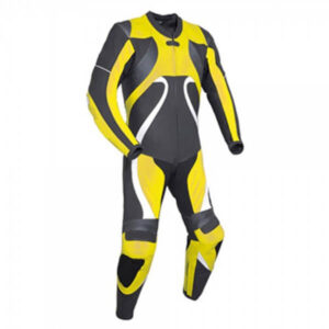 Yellow&Grey Motorcycle Racing Leather Suit