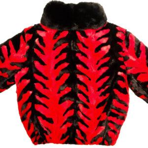 Black Cherry Mink Fur Fox Collar Jacket