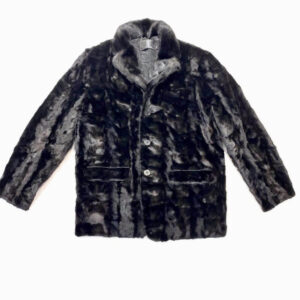 Black Diamond Cut Mink Car Coat