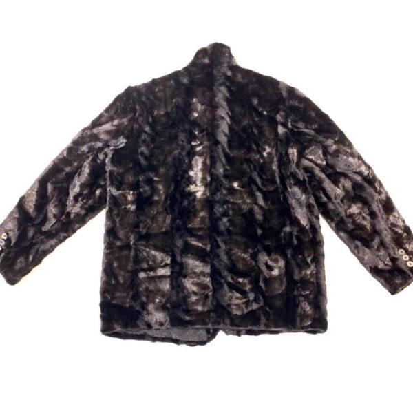 Black Diamond Cut Mink Car Coat
