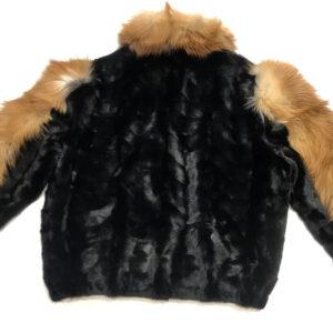 Black Mink Fur Red Fox Jacket