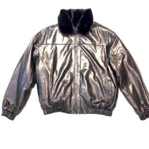 Black Reversible Leather Mink Jacket