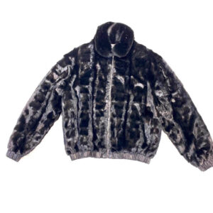Black Reversible Leather Mink Jacket