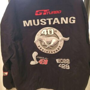 Black Vintage Ford Cobra Mustang Jacket