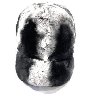 Black and Grey Full Rex Rabbit Derby Hat