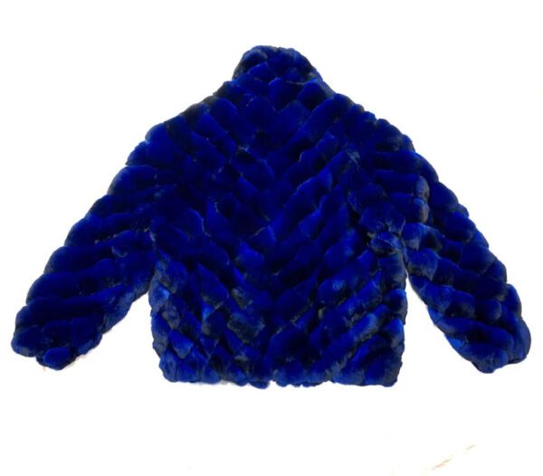 Blue Black Diamond Cut Full Chinchilla Coat