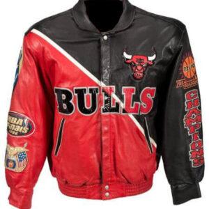 Chicago Bulls 1996 Jeff Hamilton Leather Jacket
