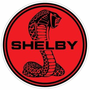 Cobra Shelby Red Ford Mustang Racing Patch