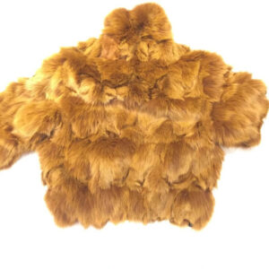 Cognac Full Fox Fur Bomber Jacket