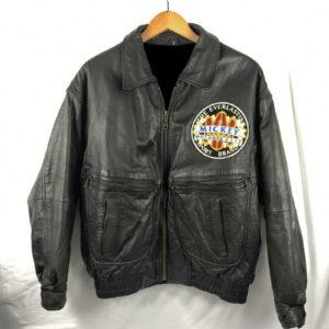 Disney Mickey Racing Team Leather Jacket