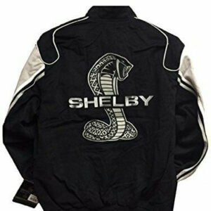 Ford Shelby Cobra Racing Cotton Twill Black Jacket