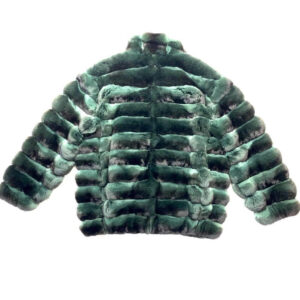 Forest Green Full Chinchilla Fur Coat