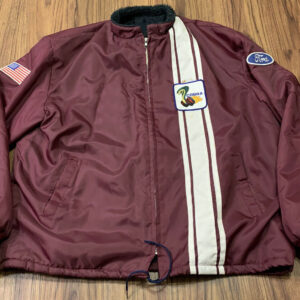 Maroon Vintage Ford Mustang Cobra Shelby Jacket