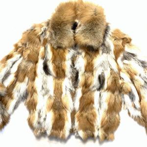 Men Red Fox Bomber Fur Jacket