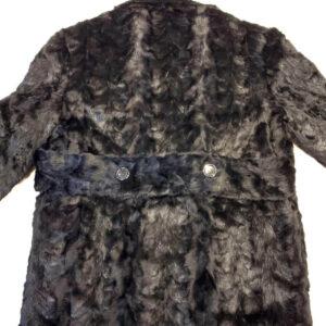 Men's Black Fur Bomber Pea Coat