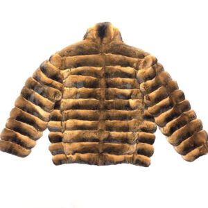 Men's Brown Full Chinchilla Fur Coat