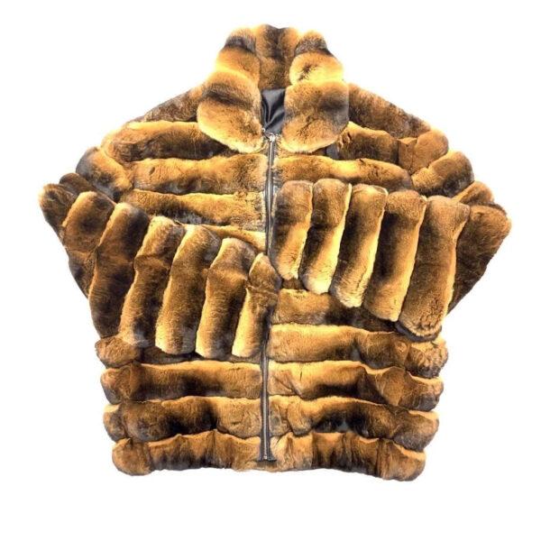 Men's Brown Full Chinchilla Fur Coat