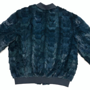 Men's Dark Green Mink Bomber Jacket