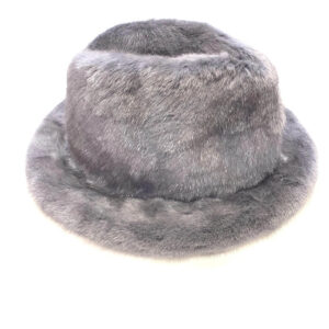 Men's Grey Full Mink Fur Top Hat