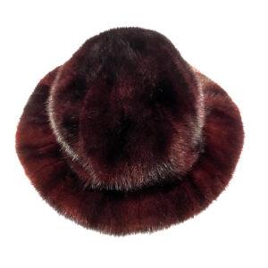Men's Wine Full Mink Fur Top Hat