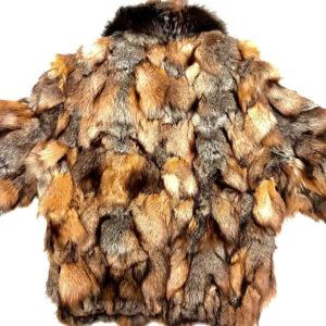 Natural Arctic Mink Fur Fox Fur Collar Jacket