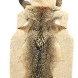 Natural Plush Fox Tail Shearling Vest