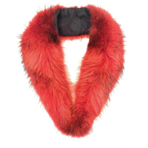 Red Rabbit Fur Wrap Collar