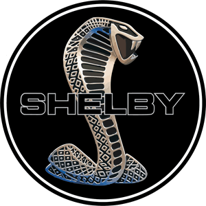 Shelby Cobra Black Circle Logo Patch