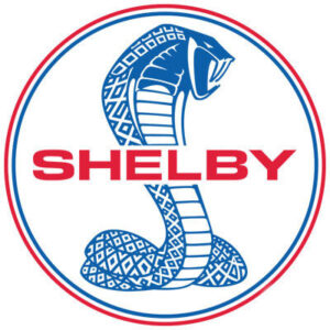 Shelby Cobra Blue and Red Circle Logo Patch