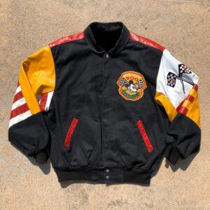 Vintage 80s Jeff Hamilton Mickey Mouse Leather Jacket