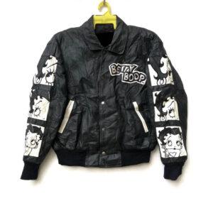 Vintage 90s Betty Boop Cartoon Leather Jacket