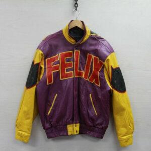 Vintage 90s Felix The Cat Cartoon Leather JacketVintage 90s Felix The Cat Cartoon Leather Jacket