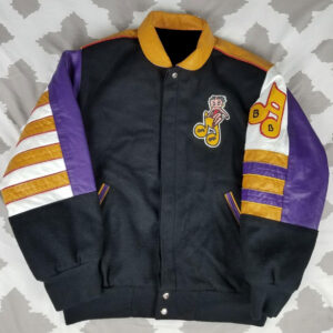 Vintage Betty Boop Leather and Wool Varsity Jacket