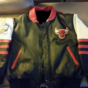 Vintage Chicago Bulls Jeff Hamilton Leather Jacket