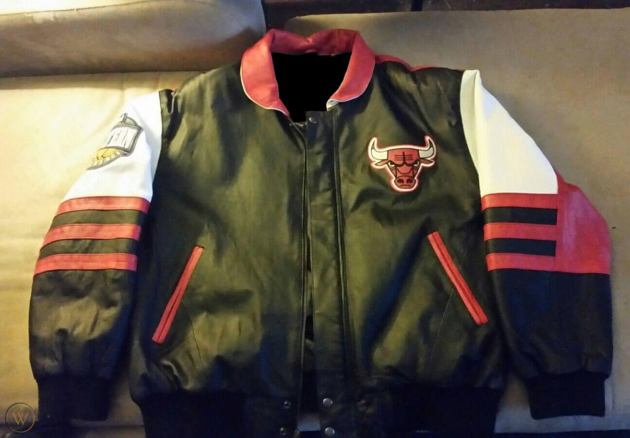 Vintage Chicago Bulls Jeff Hamilton Leather Jacket