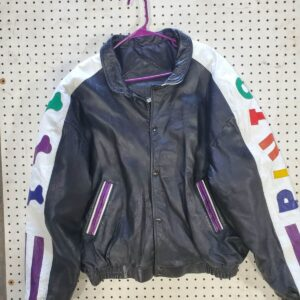 Vintage Disney Pluto Cartoon Leather Jacket