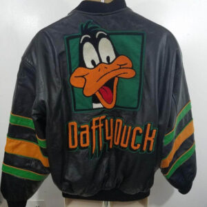 Vintage Looney Tunes Daffy Duck Leather Jacket