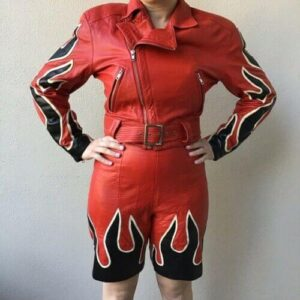 Vintage Michael Hoban Flame Leather Jacket