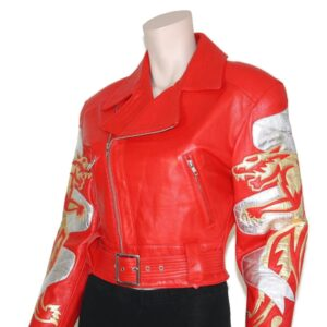 Vintage Michael Hoban Red North Beach Leather Jacket