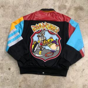 Vintage Road Runner Jeff Hamilton Looney Tunes Leather Jacket