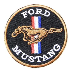 Vintage Style Ford Mustang Logo Patch