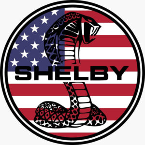 Vintage Style Shelby Cobra USA Flag Patch