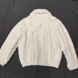 White Diamond Cut Mink Bomber Jacket