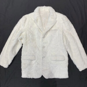 White Diamond Cut Mink Car Coat