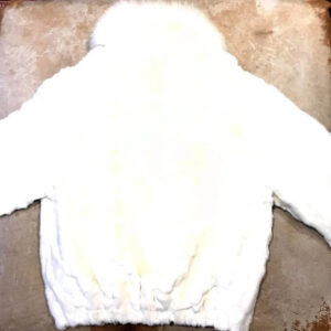 White Diamond Cut Mink Fur Jacket