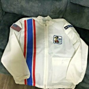 White Vintage Cobra Ford Mustang Shelby Jacket