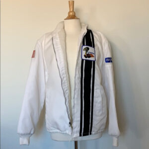 White Vintage Ford Mustang Cobra Shelby Jacket