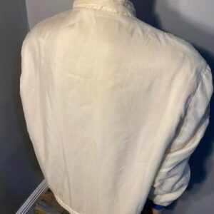 White Vintage Ford Mustang Cobra Shelby Racing Jacket